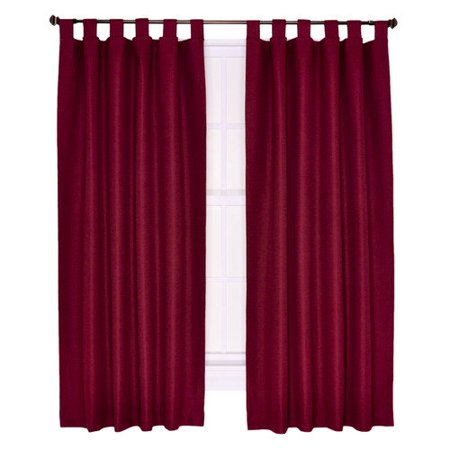 Ellis Curtain Crosby Insulated Tab Top Foamback Curtains Panel Set Of 2