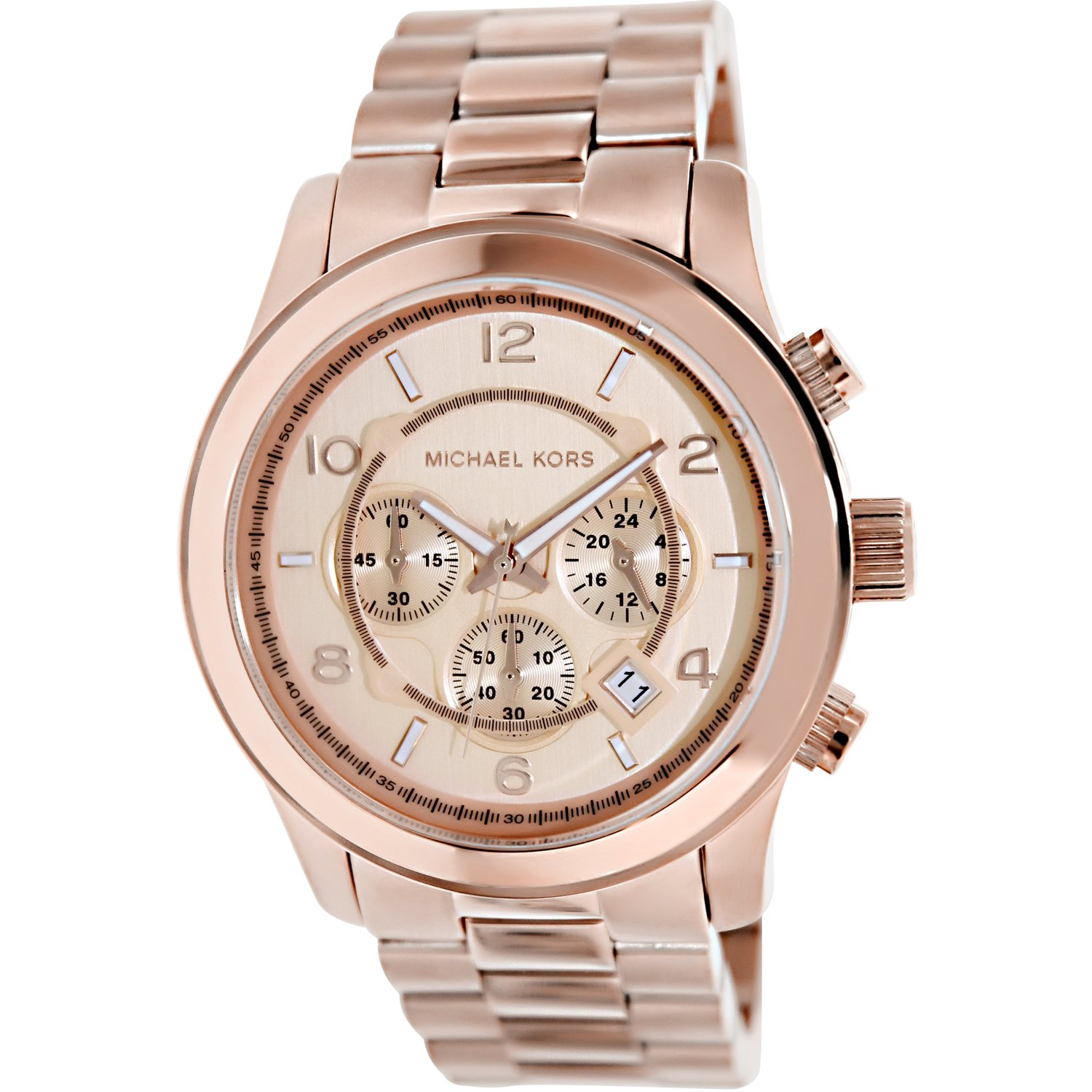 Michael Kors Men's Runway MK8096 Rose-Gold Stainless-Steel Quartz Dress Watch