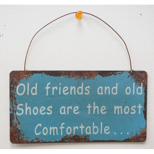 Attraction Design Home Old Friends and Old Shoes Wisdom Sign Wall D cor
