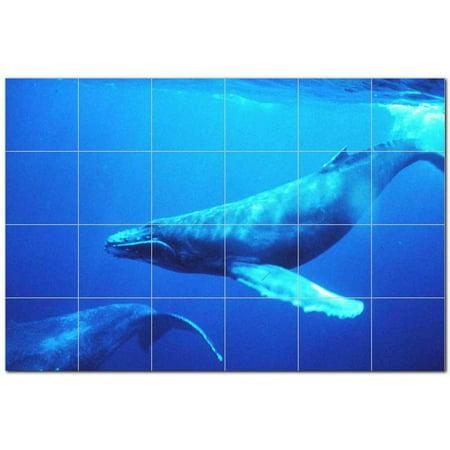 Whale Ceramic Tile Mural Kitchen Backsplash Bathroom Shower 403087 S64