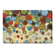 Artistic Home Gallery 'Retro Circles' Print on Wrapped Canvas