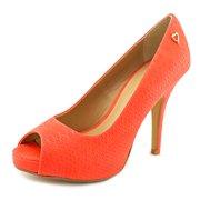 Thalia Sodi Cereza Women  Peep-Toe Synthetic Red Heels