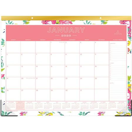 Blue Sky, BLS103631, Day Designer Floral Desk Pad, 1 Each,