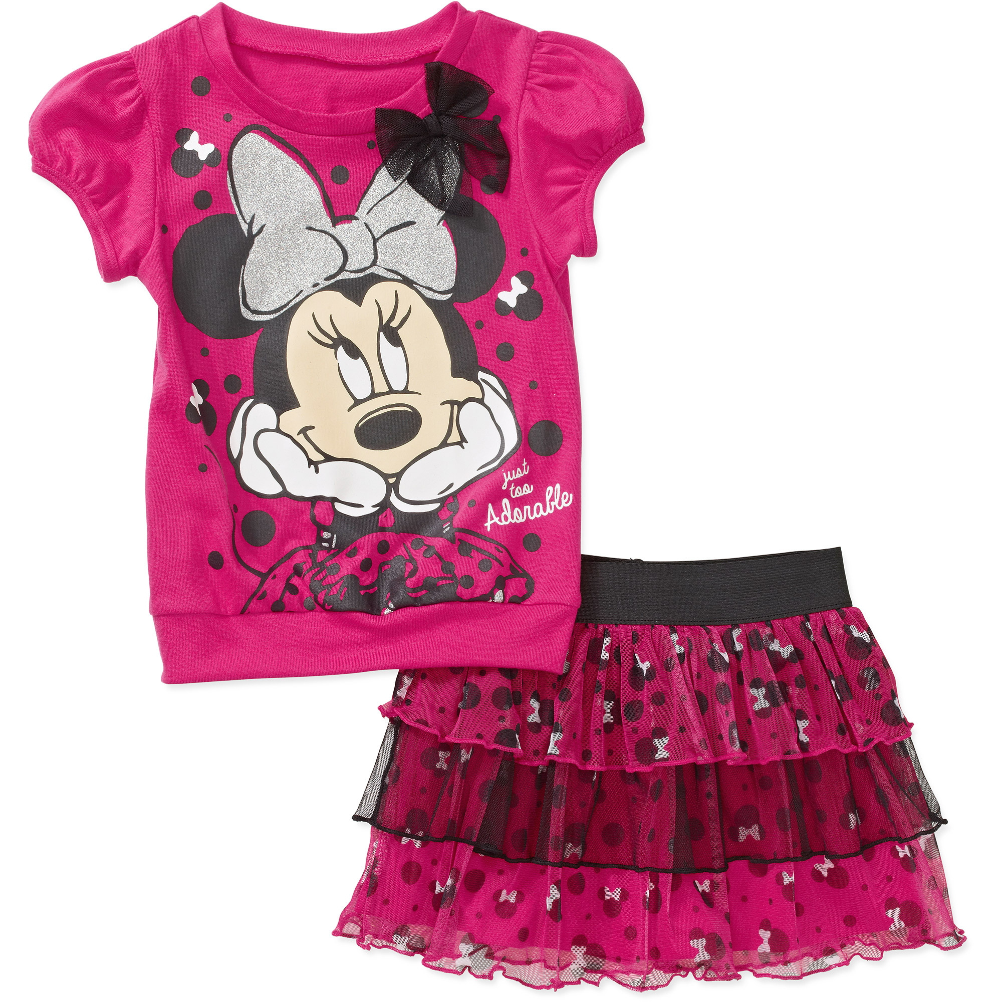 Minnie Mouse Toddler Girls' Bow Tee and Tutu Set