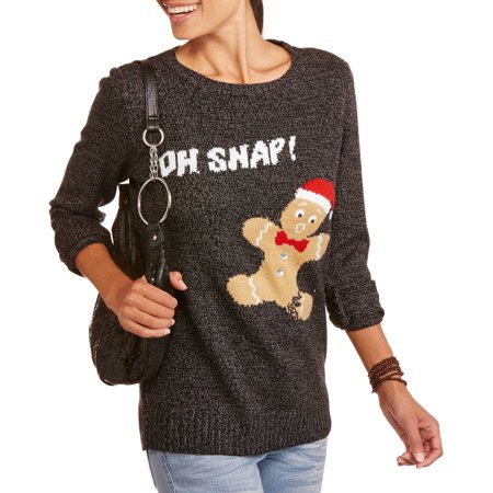 nyc alliance womens oh snap pullover christmas sweater