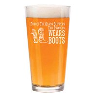 16 oz Beer Pint Glass Princess Wears Boots Cowgirl