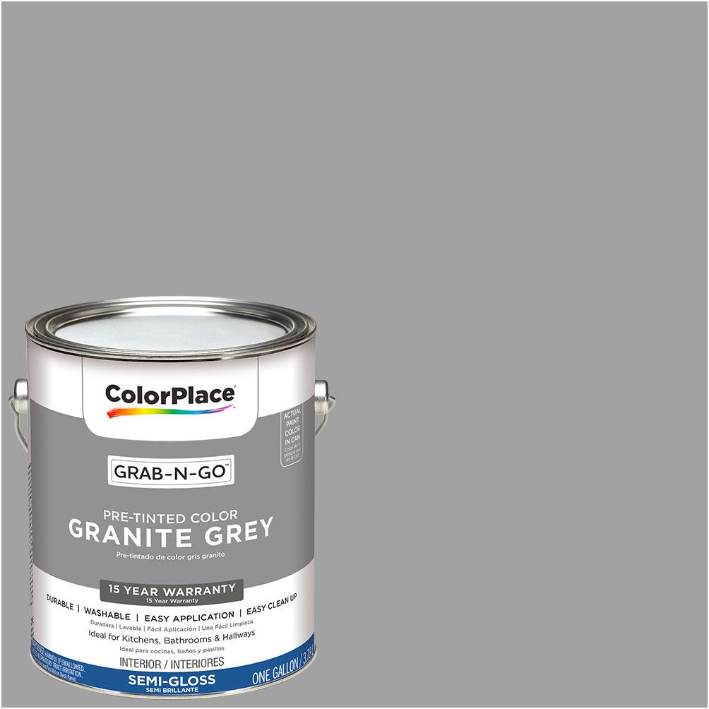 ColorPlace Grab-N-Go, Interior Paint, Granite Grey, Semi-Gloss ...