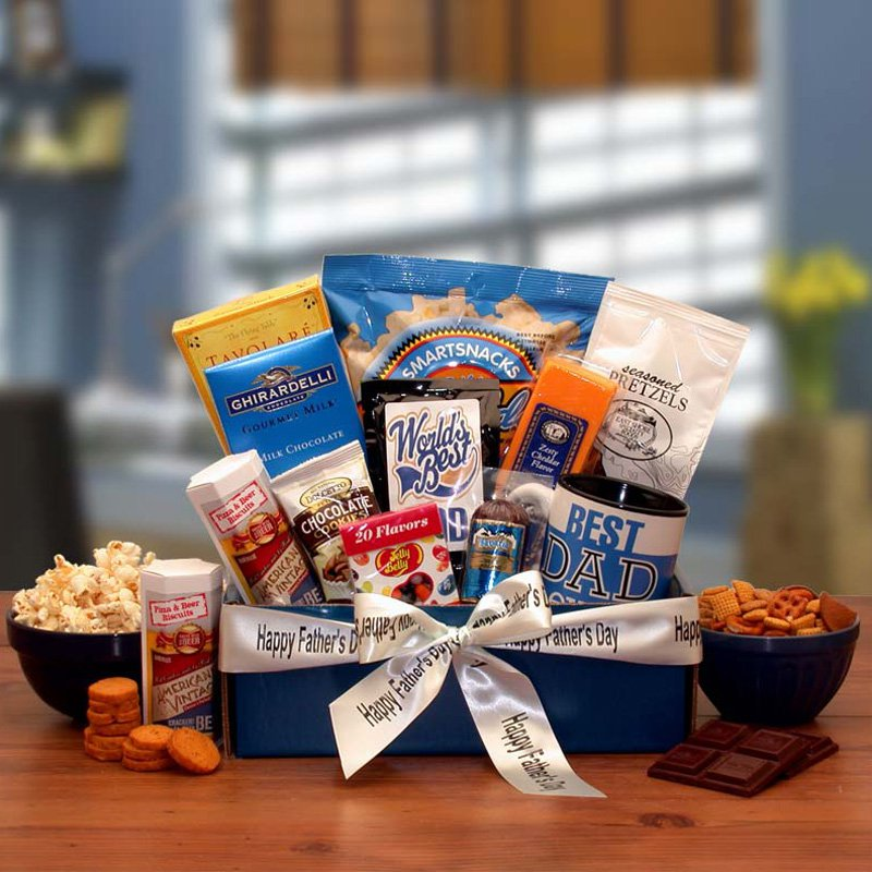 Best Dad Ever Gourmet Gift Basket Box