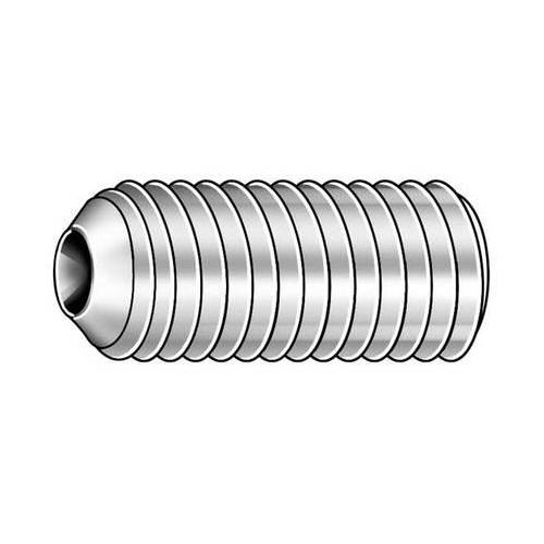 Pack of 2 1//4 18-8 Stainless Steel Socket Set Screw with Plain Finish; PK100 U51260.031.0025