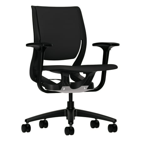 HON Purpose Upholstered Flexing Task Chair, Black/Black ()