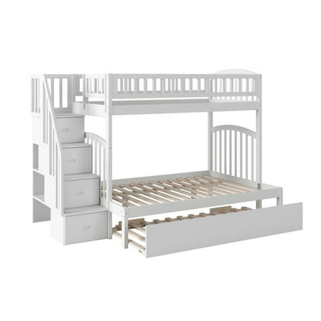 Atlantic Furniture Westbrook Twin Over Full Bunk Bed With Trundle In White Walmart Canada