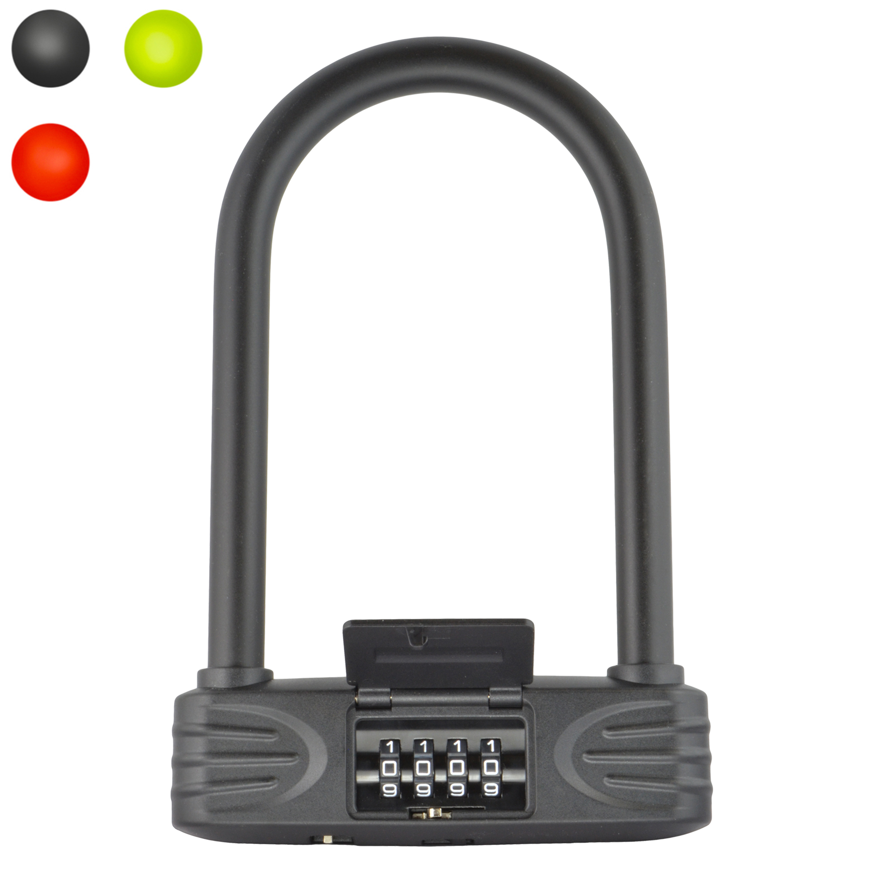 Lumintrail 16mm Heavy Duty 4-Digit Bicycle Bike Combination U-Lock with Optional 4-Foot or 7-Foot Braided Steel Security Cable