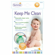 Summer Infant Keep Me Clean Disposable Diaper Sacks, 75 Count