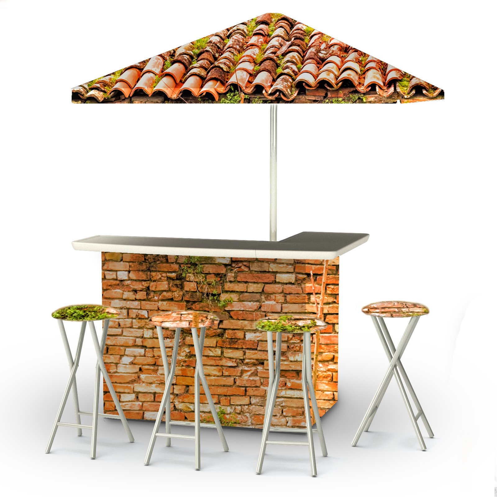 Best of Times 6 Piece Portable Deluxe Outdoor Bar Set