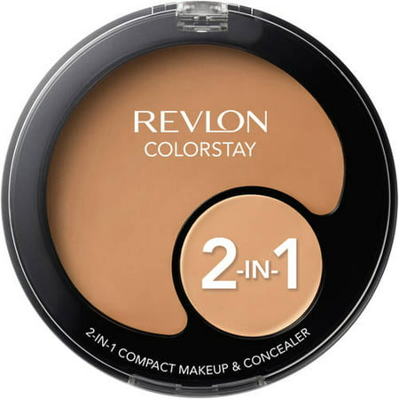 Revlon Colorstay 2-in-1 Compact Makeup and Concealer, Natural Tan (Revlon Eye Concealer)
