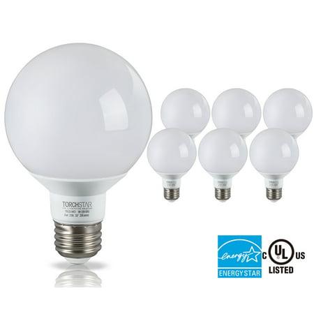 Decorative Vanity Light Bulbs : G25 Globe LED Light Bulb, 5W (40W Equiv.), ENERGY STAR, Damp Location Available, 2700K Soft ...