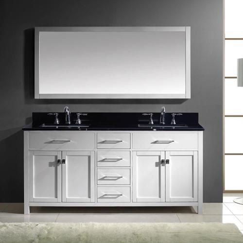 Bathroom cabinet manufacturers usa - Virtu Usa Caroline 72 Inch Double Bathroom Vanity Cabinet Set In White