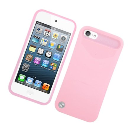 - Insten Night Glow Jelly Hard Plastic/Soft Silicone Case Cover For Apple iPod Touch 6th / 5th Gen, Pink