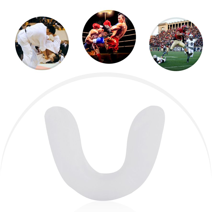 Adult Sports Mouth Guard Gum Shield Grinding Teeth Protect For Boxing NEW