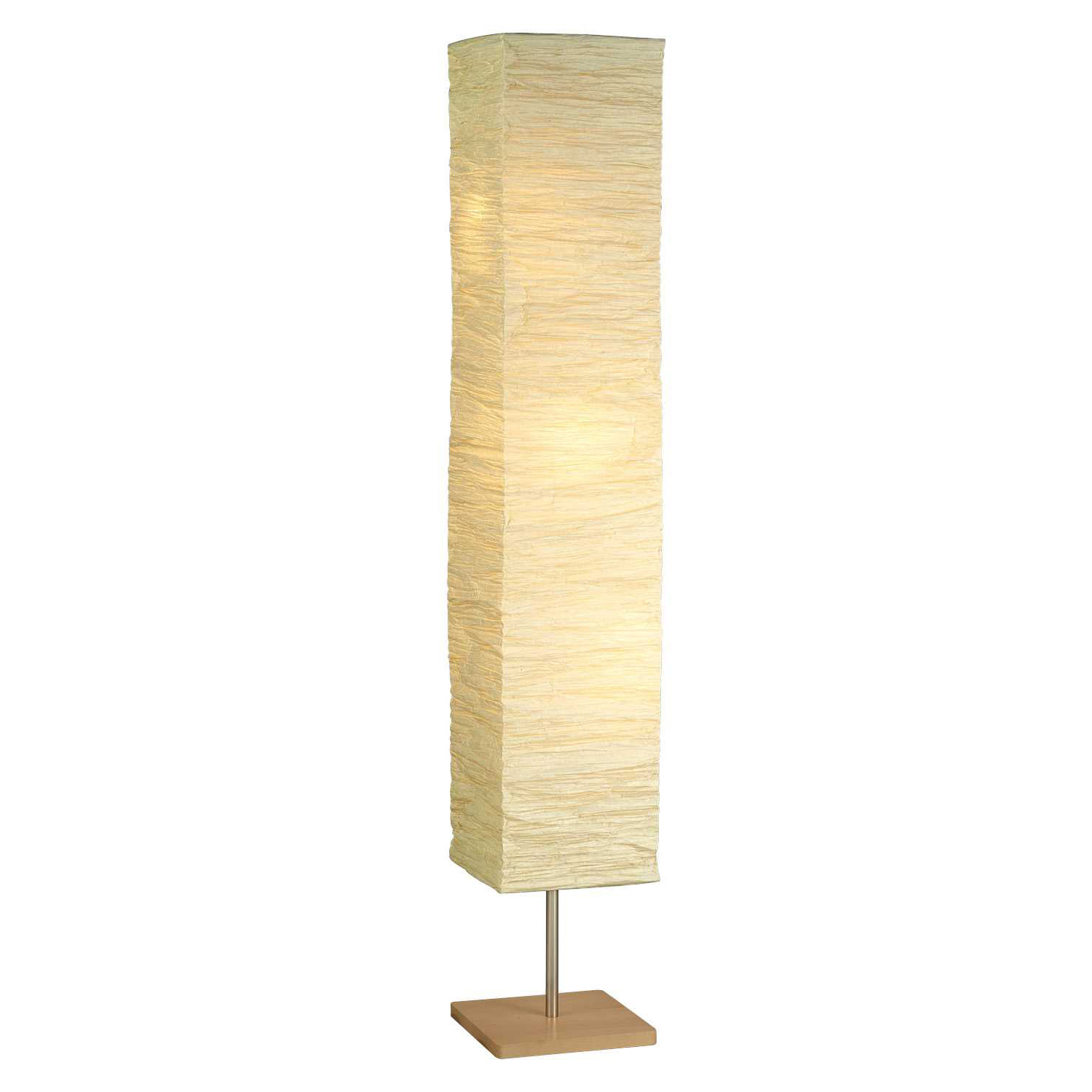 Adesso Home Dune Collection Modern Torchiere Floor Lamp w/ Crinkle Paper Shade
