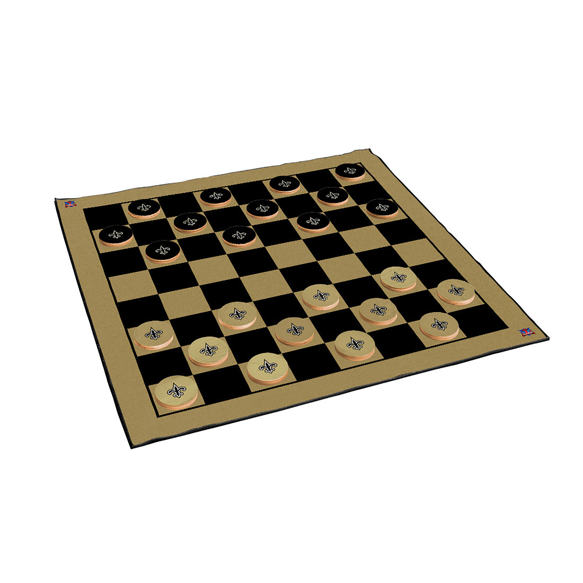 New Orleans Saints 2-in-1 Giant Checkers & All Weather Mat - No Size