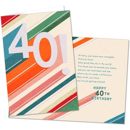 Just Getting Started 40th Birthday Card By Hallmark Walmart