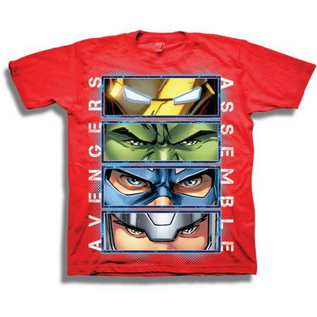 Avengers Shirts (Marvel Comics Marvel Avengers Boys' Assemble Short Sleeve)