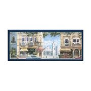 Havana St Scene Plaque in Navy Blue