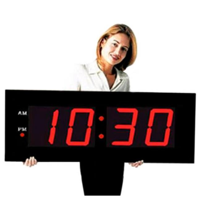 Max Group 107 8 inch Red Numeral LED Clock With Remote