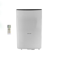 Cool-Living 8,000 BTU 115-Volt Portable Air Conditioner with Remote and Window Kit, White