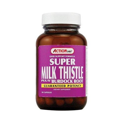 Image of Action Labs Super Milk Thistle Plus Burdock Root 400mg Capsules, 50 Ct