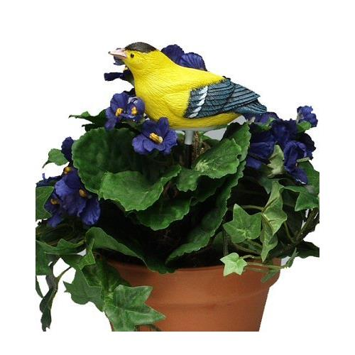 Singing Goldfinch - Plant Pal Soil Moisture Meter (Finch Sings When Plant Is Thirsty!) - image 4 de 4