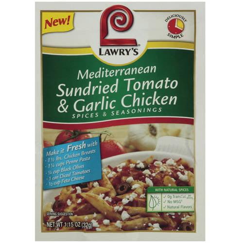 Mediterranean Sundried Tomato & Garlic Chicken Spice & Seasoning, 1.15 oz