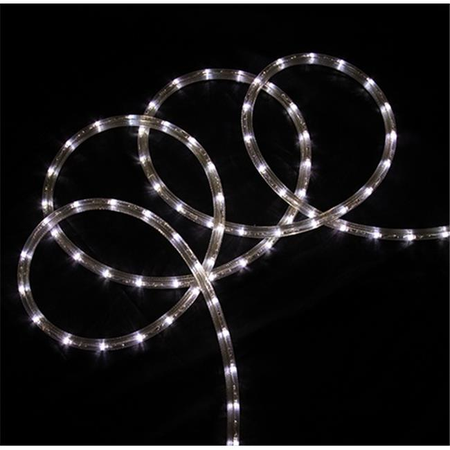 NorthLight 18 ft.  Pure White LED Indoor - Outdoor Christmas Rope Lights