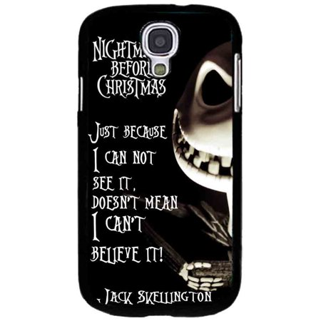 Ganma Jack Skellington Quote Nightmare Before Christmas Case For Samsung Galaxy Case (Case For Samsung Galaxy S6 edge - Jack Skellington Halloween Quotes