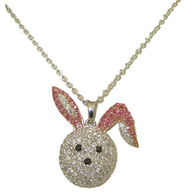 Designer Jewelry 3771 CZ Bunny Rabbit Necklace