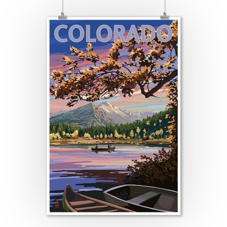Colorado - Twilight Lake Scene - Lantern Press Poster (9x12 Art Print, Wall Decor Travel