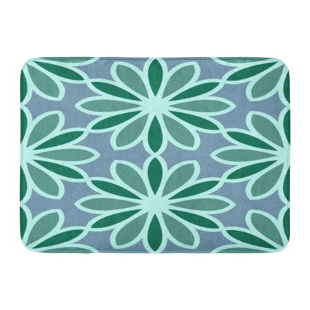 Oriental Stained Glass - GODPOK Morrocan Floral Design Oriental with Abstract Flowers Hexagonal Trefoil Swatch Stained Glass Vitrage Rug Doormat Bath Mat 23.6x15.7 inch