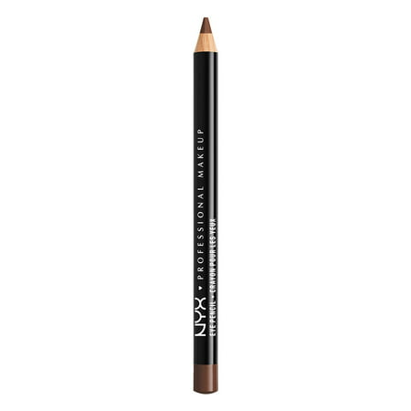 NYX Professional Makeup Slim Eye Pencil, Dark Brown (Simple Eyeliner Halloween Makeup)
