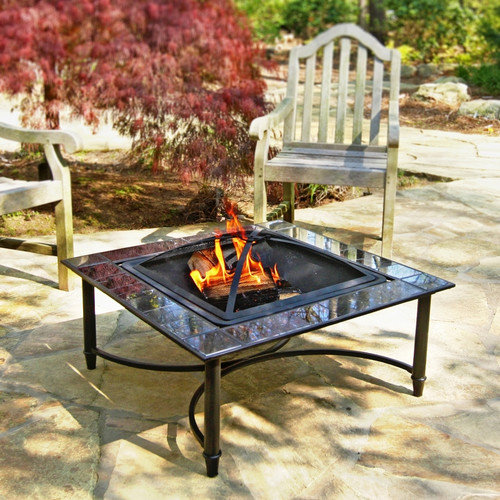 Corral Marble Fire Pit Table