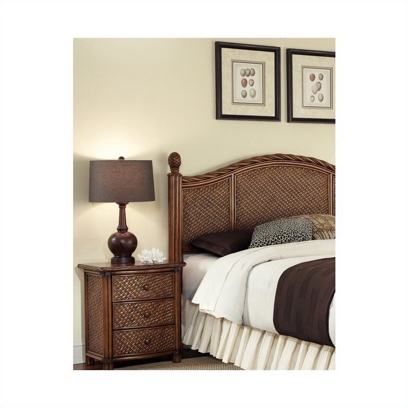 Home Styles Marco Island King/California King Headboard and Night Stand, Cinnamon