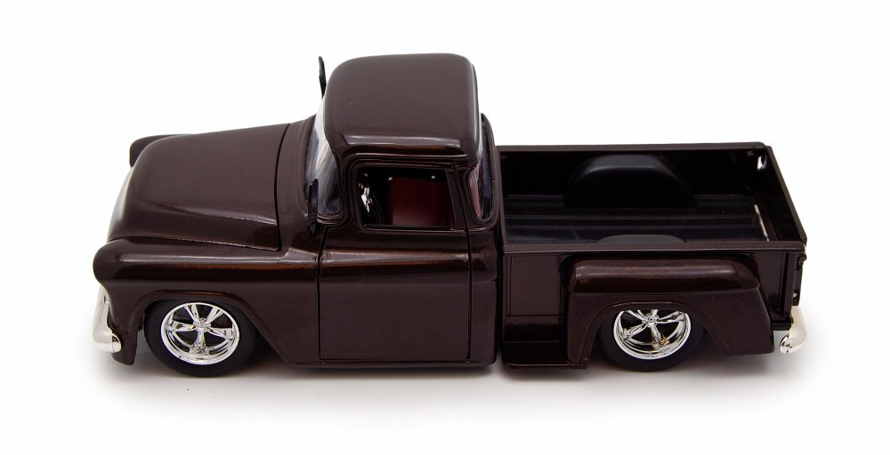 1955 Chevy Stepside Pickup, Brown Jada Toys 90160 1 24 scale Diecast Model Toy Car by Jada