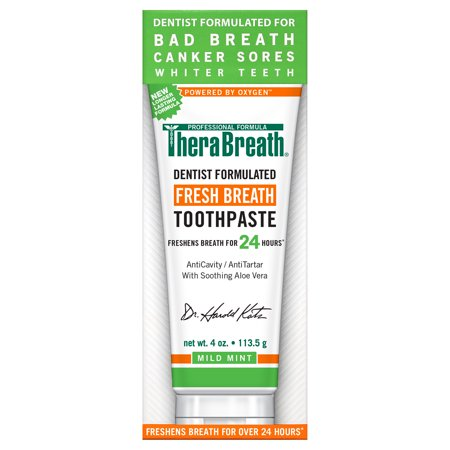 TheraBreath Dentist Recommended Fresh Breath Toothpaste, 4