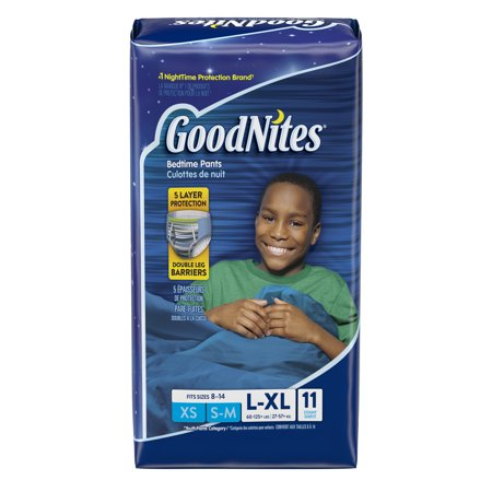 Goodnites Bedtime Pants For Boys  Size L Xl  11 Count