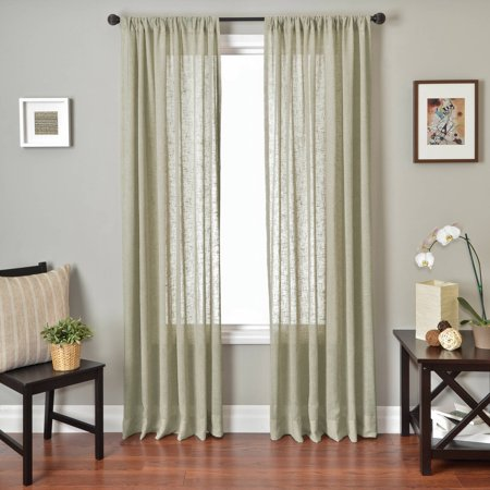 Denim Curtain Panel - Softline Louvre Rod Pocket Curtain Panel