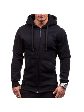 e19660b6d Product Image Mens Thick Zip-Up Hoodie Sherpa Fur Winter Unisex Hooded Jacket  Jumper Black M