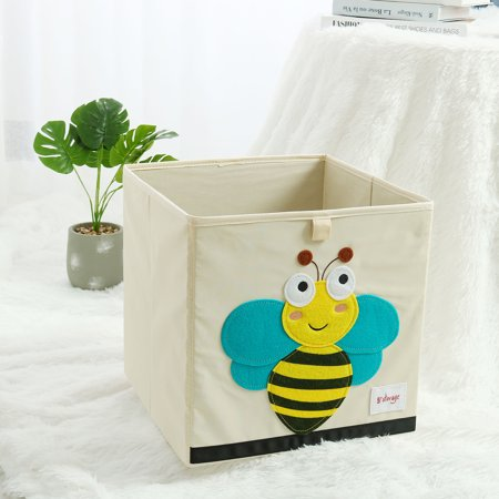 - Collapsible Cartoon Fabric Storage Bins Cubes Basket Toy Box for Kids