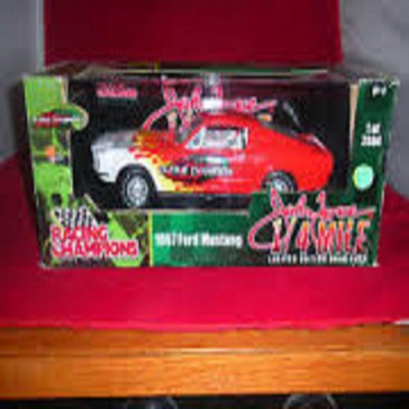Ertl 77448 1967 Ford Mustang John Force Red 1 18 Scale Die Cast Model Car by