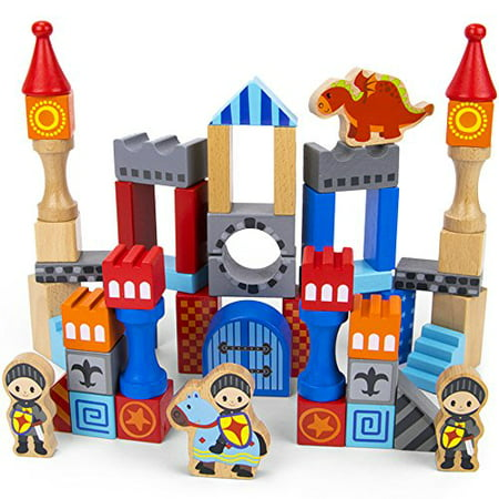 Imagination Generation Heroic Knights Wood Castle Building Blocks & Figures - Woody Toy