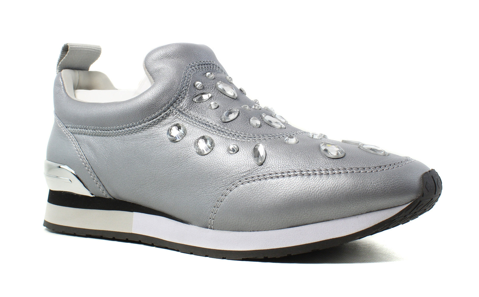 Tory Burch Womens  Silver Fashion Athletic Shoes Size 9 New